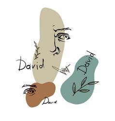 Art head david michelangelo 6 vector