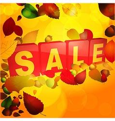 Autumn sale tabs background vector