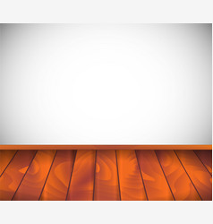 background empty room with wooden floor or vector image