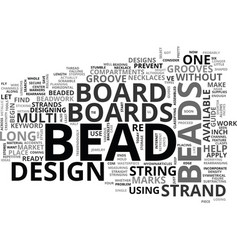 Bead board text word cloud concept vector