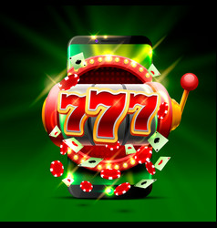 Big win slots 777 phone casino background vector