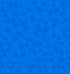blue low poly triangular mosaic background vector image