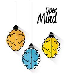 Brain-shaped lamps design vector