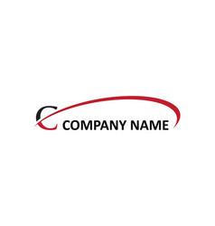 C letter swoosh logo vector