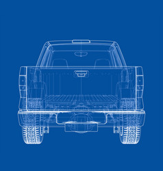 car silhouettes rendering of 3d vector image