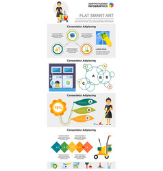 Cleaning service and management concept vector