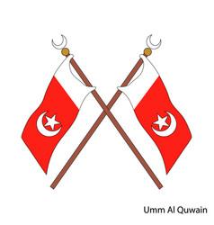 Coat arms umm al quwain is a united arab vector