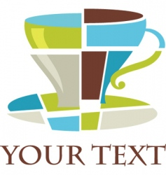 coffee cup logo vector image