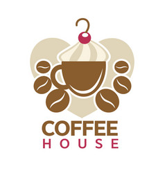 Coffee house cafeteria or cafe cup steam vector