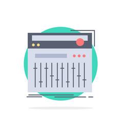 Control controller midi studio sound flat color vector