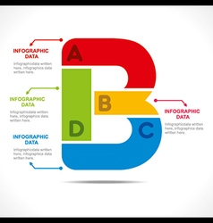 Creative alphabet b info-graphics design concept v vector
