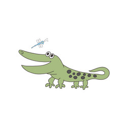 Crocodile print vector