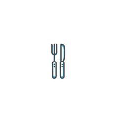 cutlery icon design gastronomy icon vector image