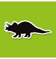 dinosaur icon design prehistoric animal vector image