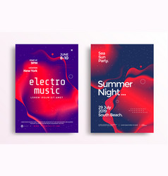 electronic music festival in duotone color vector image