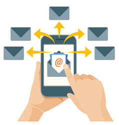 email marketing act of sending commercial messages vector image