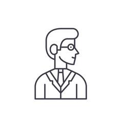 employee line icon concept employee linear vector image