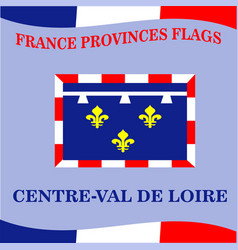 Flag of french province centre val de loire vector