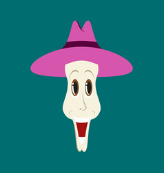 Flat icons on theme funny clown in hat vector