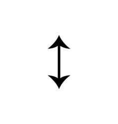 flip vertical icon two short black opposite vector image