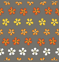 flower stripes colorful blossoms on a gray vector image