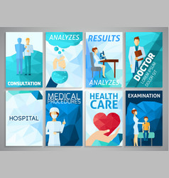 Flyer Medicine Set vector