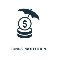 funds protection icon monochrome style design vector image