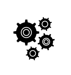 gear wheel black icon sign on isolated vector image