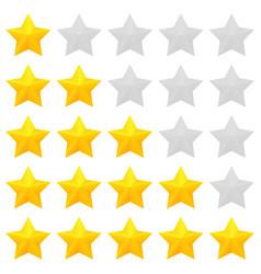 Golden stars rating vector