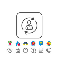 Human resources line icon user profile sign vector