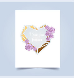 i love you greeting card valentins day vector image