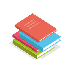 isometric books vector image