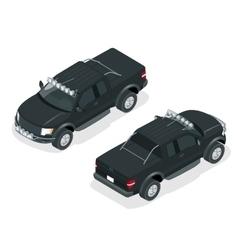 Isometric pickup truck vector