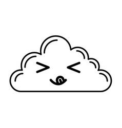 kawaii cloud cartoon vector image