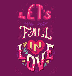 Lets fall in love vector