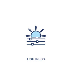 Lightness concept 2 colored icon simple line vector