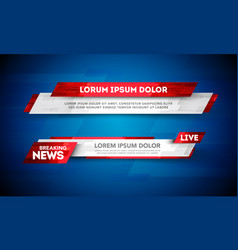 lower third template breaking news header vector image