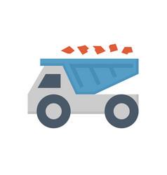 mine truck icon vector image