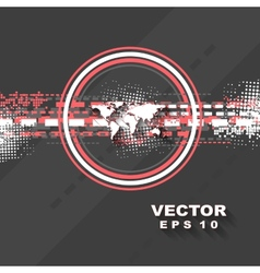 Minimal tech background vector