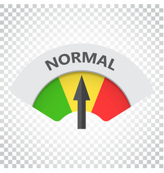 Normal level risk gauge icon normal fuel on vector