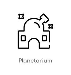 Outline planetarium icon isolated black simple vector