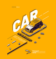 poster car dealership vehicle rental vector image