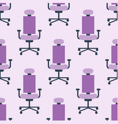 purple color armchair modern designer chair vector image