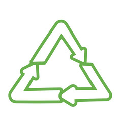 recycle arrows symbol cartoon vector image
