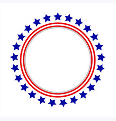 Round frame logo with american symbols vector