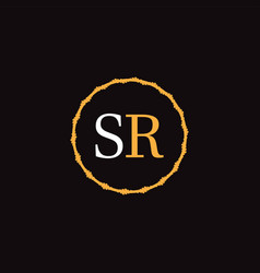S r letter logo abstract design vector