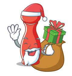 Santa with gift pepper mill character cartoon vector