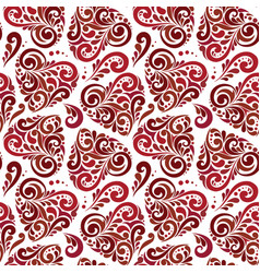 seamless abstract heart pattern vector image