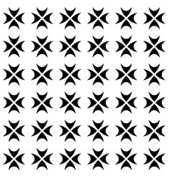Seamless pattern gothic crosses vector