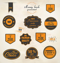 set badge and labels vector image